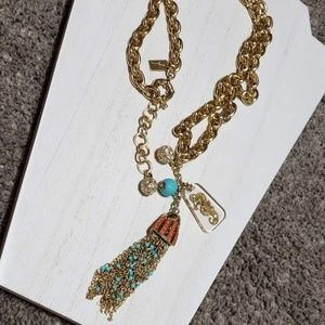 Lilly Pulitzer Jellyfish Tassel Seahorse Necklace